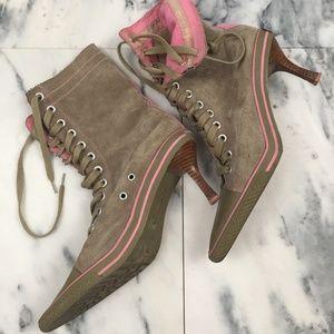 Steve Madden Rare Vintage Suede Stiletto Boots, 8